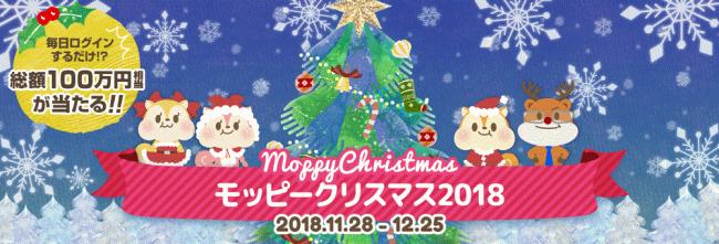 総額100万円モッピークリスマス