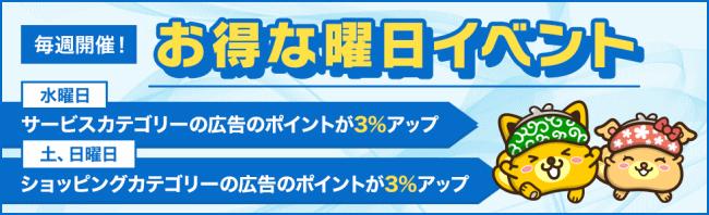 ポイントインカム_曜日イベントtop
